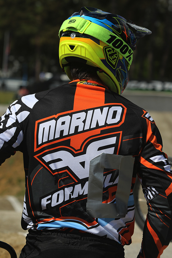 Ramiro Marino had a crash on the first straight in SDE to DNF in the final. Pic by BdJ