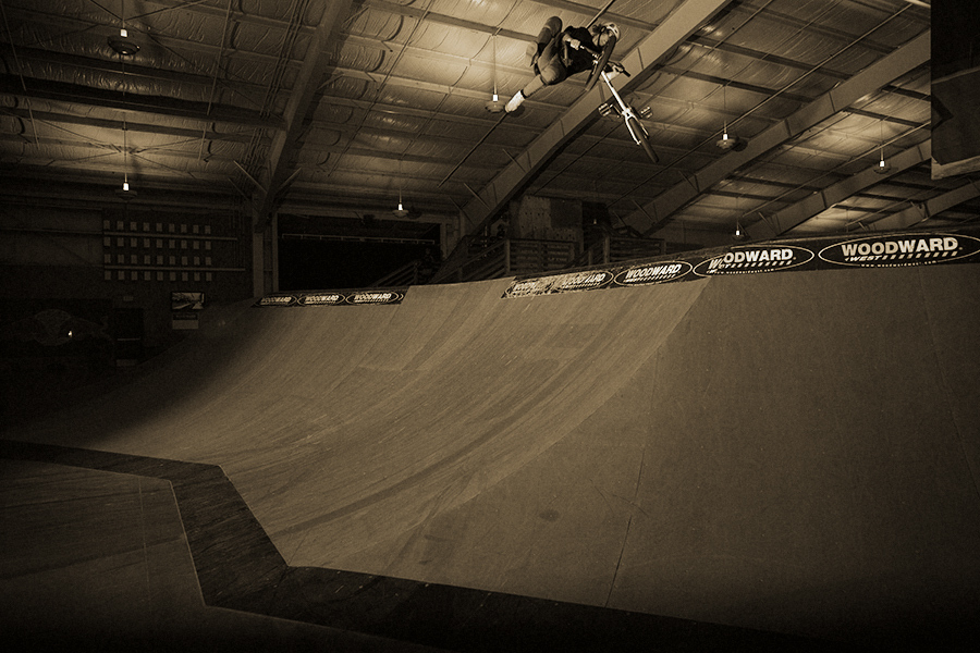 Brad having fun at Woodward camp.