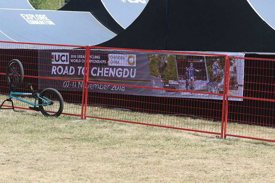 Participating Women at the UCI BMX Freestyle Park World Cup in Edmonton.