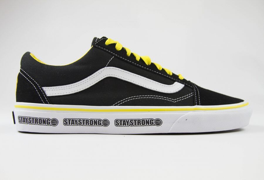 Stay Strong Vans shoe. Limited edition. Only 100 pairs made.