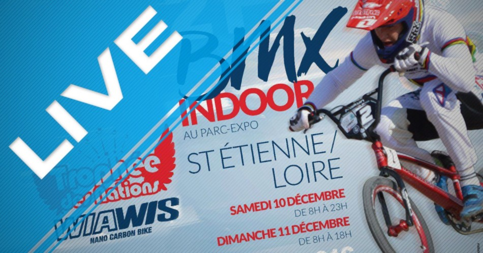 Indoor St. Etienne BMX Race. Live from France.