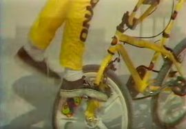 BMX Oldschool Mours 85 with Eddie Fiola. freestyle mjmdesign1