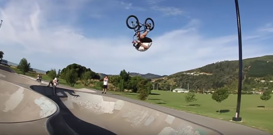 INSANE FRONTFLIP OVER SKATEPARK BOWL! by Ryan Williams