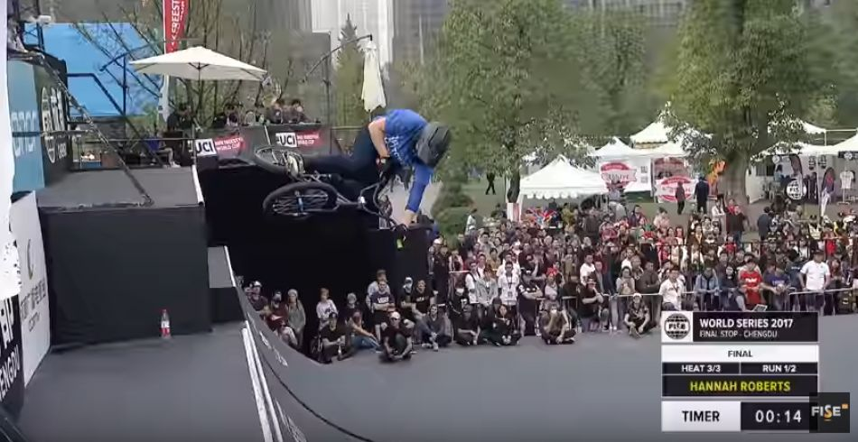 Hannah Roberts: 1st Final UCI BMX Freestyle Park World Cup Women's - FISE World Series Chengdu