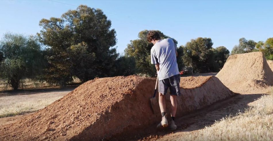 Building a Dirt Jump Roller Time-lapse by Greg Barling