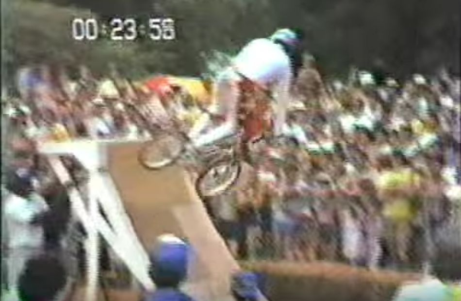 1983 Murray World Cup - Nashville TN. BMXA Trick Team demo. By TheOldskoolFoolBMX