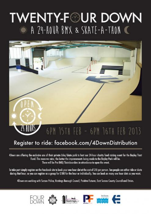 Twenty-Four Down 24 Hr BMX & Skate-a-thon