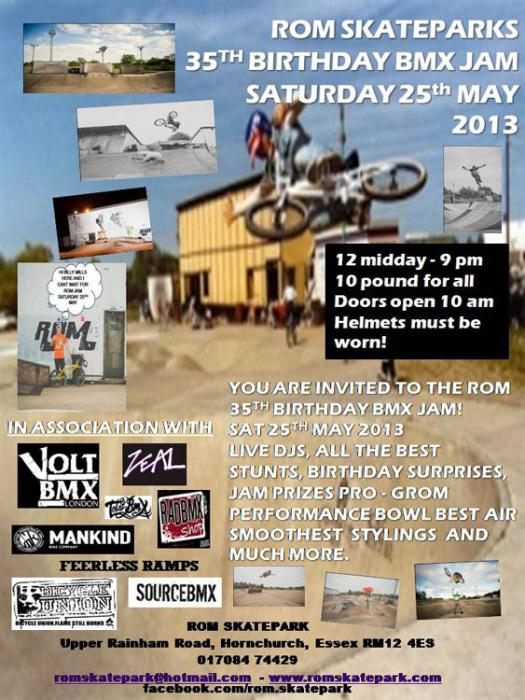 Rom Skateparks 35th Birthday BMX Jam