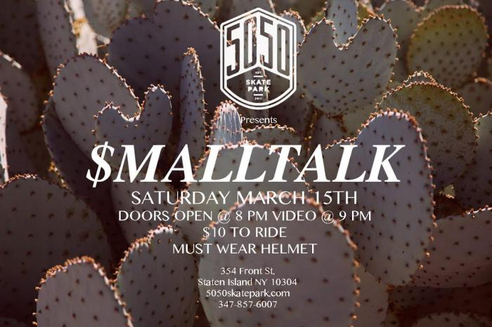 Cult Small Talk Premiere @5050skatepark.