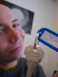 Jim Cielenki with his key