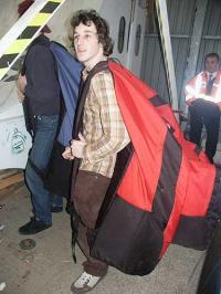Robin Fenlon packed up
