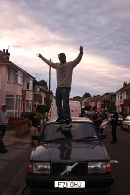 Nigel Sylvester walks the Volvo