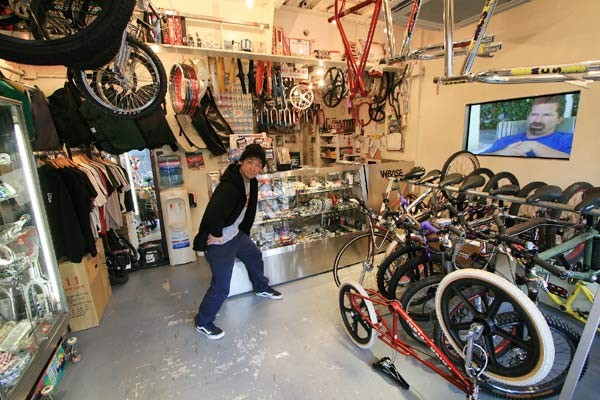 Motoaki in his W-Base shop
