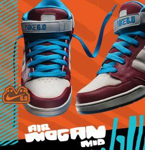 248a079df8f93 Nike 6.0 Air Mogan Mid Skate Shoe
