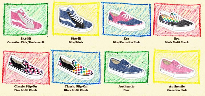 vans shoes and their names
