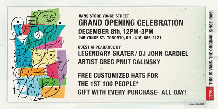 115bb39998 Join the Celebration at Vans  First Two Canadian Stores December 7   8