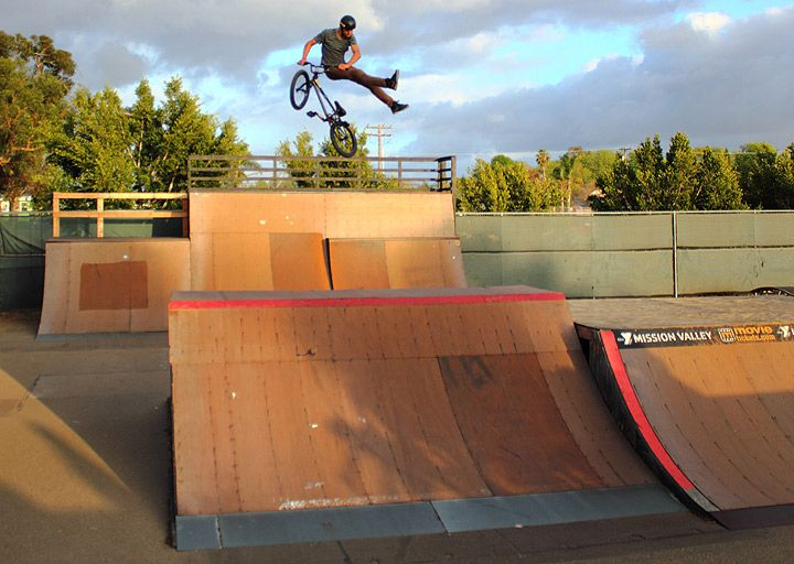 how to ride a halfpipe bmx