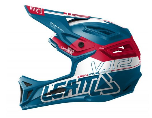 2017 Leatt Helmet DBX 5.0 Composite V12 Fuel/Red