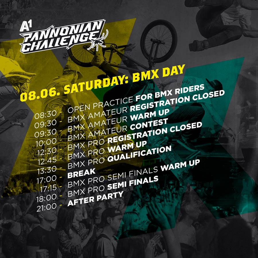 Saturday at the 20th Pannonian Challenge brings BMX qualifications and watching the match
