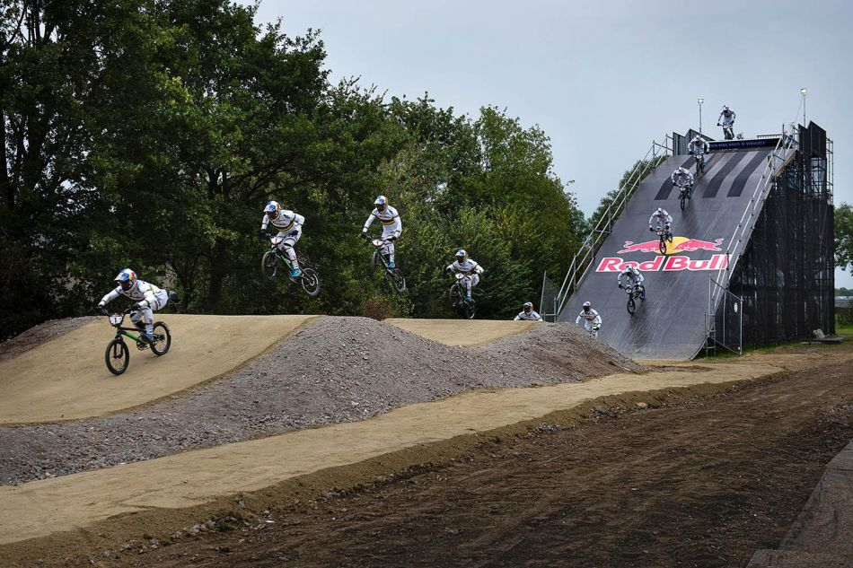 World champion Twan van Gendt has his own replica Olympic BMX track