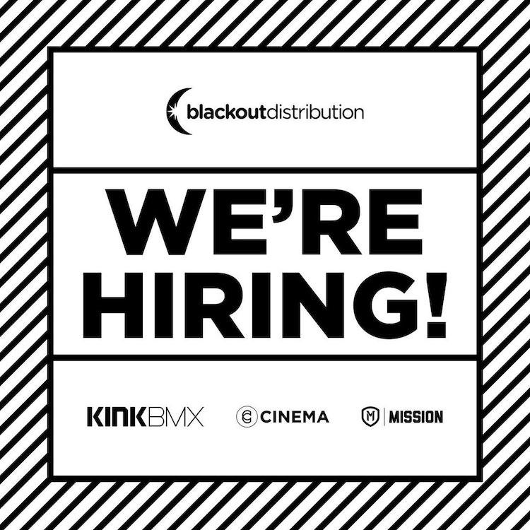 blackout distribution hiring bmx