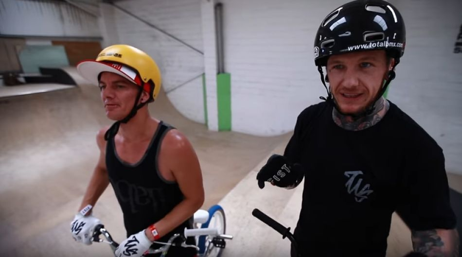Professional RedBull Drifter Mad Mike Rides BMX With Mark Webb by The Webbie Show
