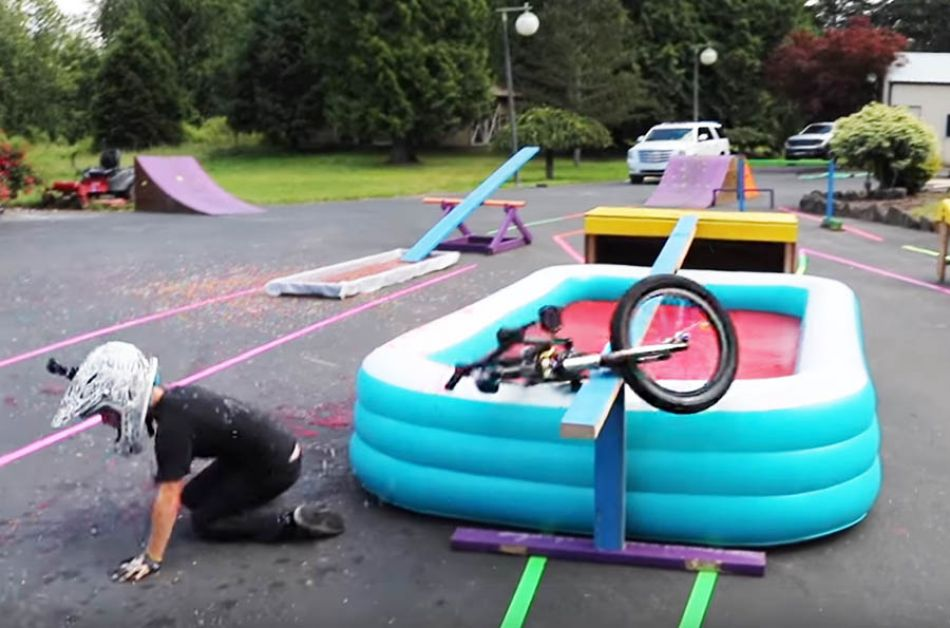SLIME BMX Obstacle Course! *Who FALLS IN?!* by Bmx Caiden