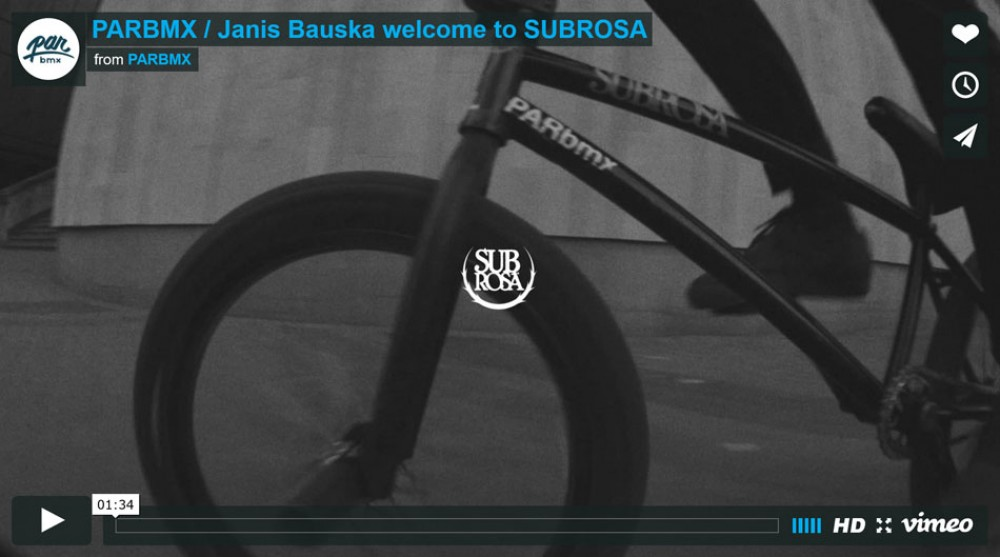 Janis Bauska welcome to SUBROSA from PARBMX