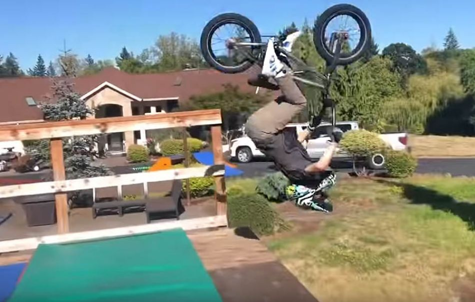 My first BACK FLIP! @Caidenbmx by Bmx Caiden