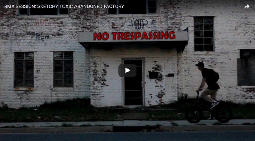 BMX SESSION: SKETCHY TOXIC ABANDONED FACTORY by AnthonyPanza
