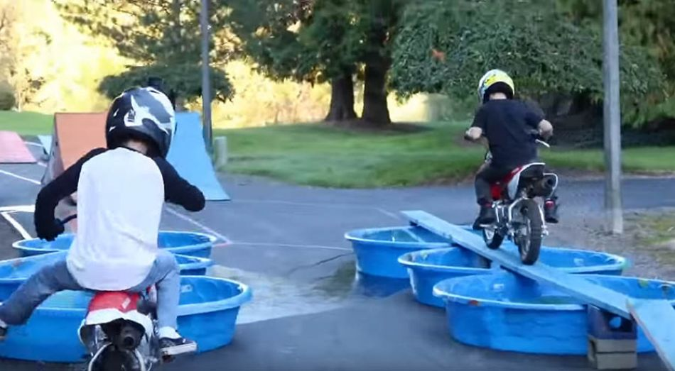 BMX vs MX Obstacle Course! by Bmx Caiden