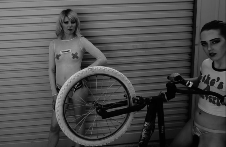 Satin bmx (featuring the Satin girls.) by Anthony Guilbert.