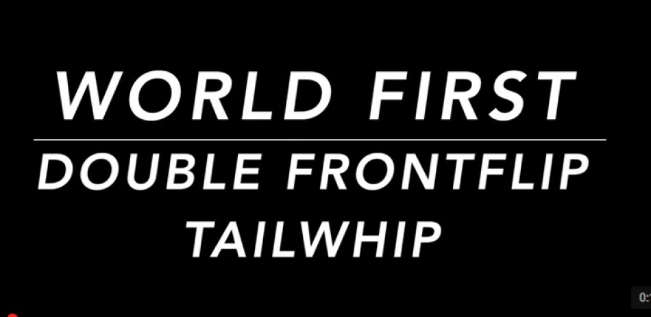World First DOUBLE FRONTFLIP TAILWHIP by Todd Meyn