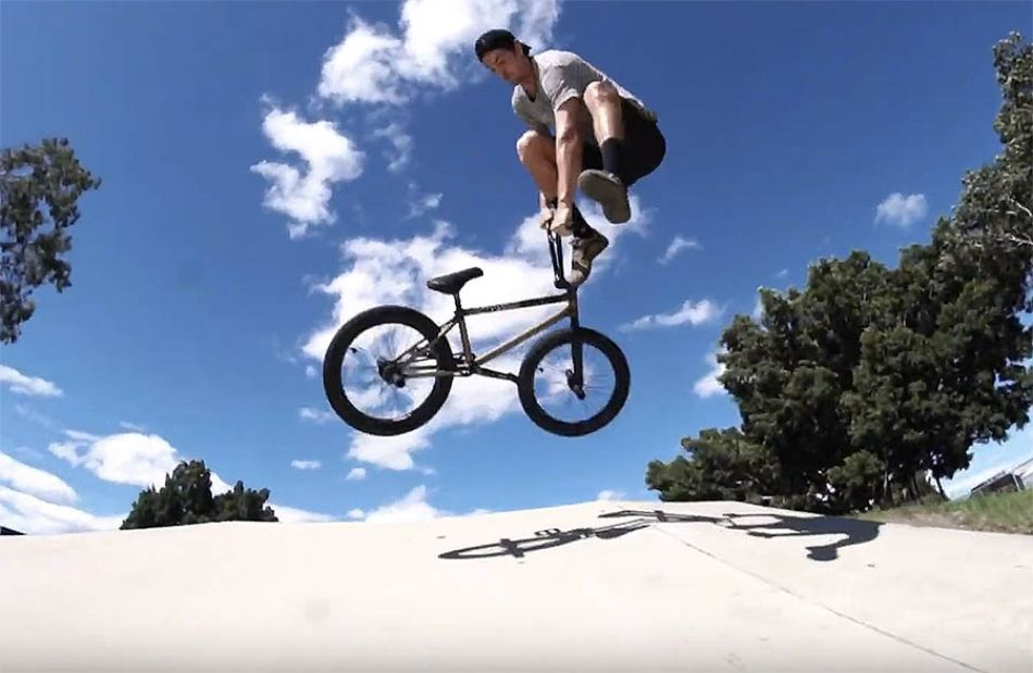 LUXBMX staff sessions with Brock Olive Bundamba skatepark.